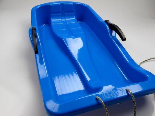 Kinder-Schlitten Rodel Bob mit Bremsen (blau)