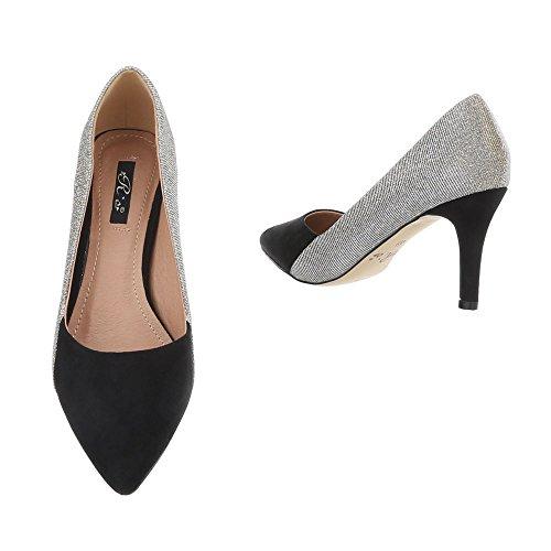 Schuhcity24 Damen Schuhe Pumps High Heels Schwarz