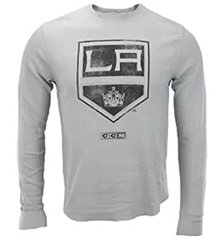 CCM Los Angeles Kings NHL Mens Long Sleeve Thermal Shirt, Grey