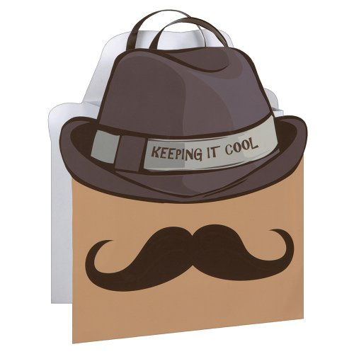 Cool Mustache Gift Bag, 12.5