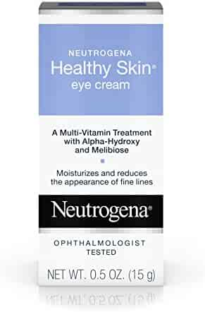 Neutrogena Healthy Skin Eye Firming Cream with Alpha-Hydroxy Acid, Vitamin A & Vitamin B5, Hypoallergenic Eye Cream to Reduce Fine Lines & Wrinkles, Fragrance-Free, 0.5 oz