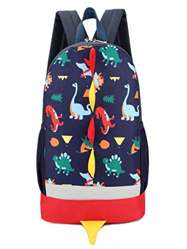 Casual Backpack Kids School Slim Toddler Baby Blue Dinosaur Dark Boys Girls Leather Bag Vpass Animals Pattern Student 4wqTpx