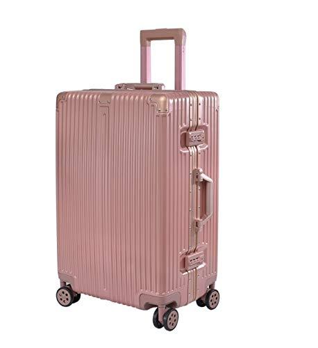 SfHx 新高級アルミフレームトロリーケース防水耐摩耗シャーシスーツケース (Color : ピンク, Size : L) L ピンク B07PT49RYZ