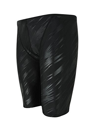 Srnfean Men`s Swimming Jammers Quick Dry Swim Shorts Black Stripe X-Small by Srnfean