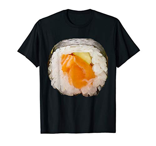 Sushi Roll Costume T-Shirt Japanese Rice Salmon Avocado Roll