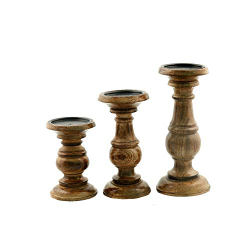 Deco 79 51536 Wood Candle Holder (Set of 3) 10