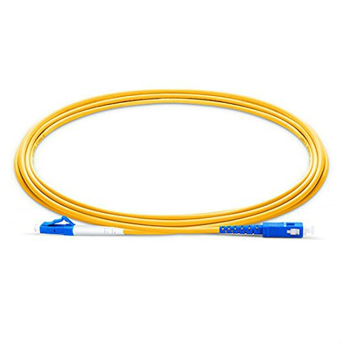 100pcs/bag 3m (9.84ft) LC/UPC-SC/UPC Simplex 2.0mm Single Mode Fiber Optic Patch Cord, LC-SC Fiber Patch Cable