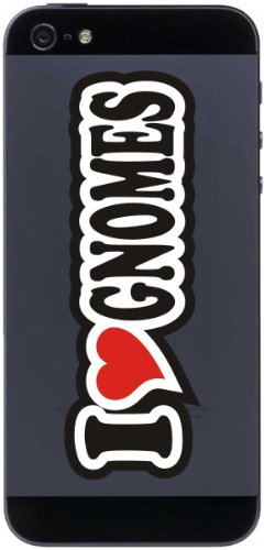 Gnomes Sticker - I Love Heart Decal Sticker mobile phone skin 70 mm I LOVE GNOMES