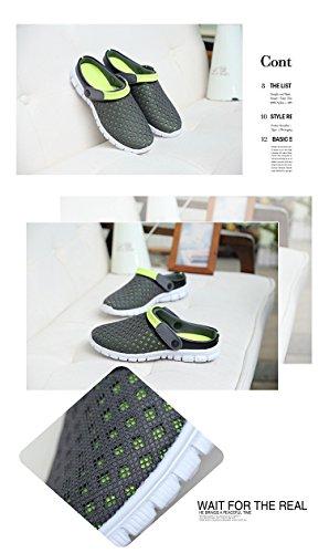 VWU - Zuecos para mujer negro y verde