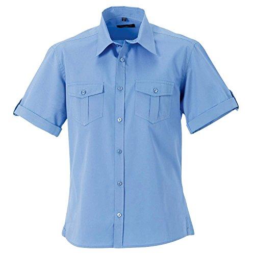 Russell Kollektion Mens Rollsleeve Kurzarmhemd - 6 Farben / SML - 4 - White - XL