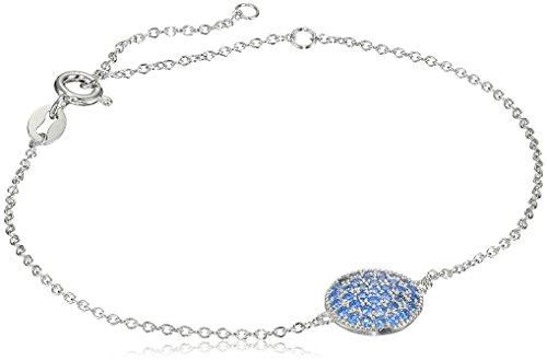 Myia Passiello Timeless Fancy Blue Pave Circle Charm Bracelet by Myia Passiello