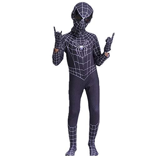 GERGER BO Spiderman Homecoming Costume,Kids Superhero Lycra Spandex Zentai Cosplay Costumes ()