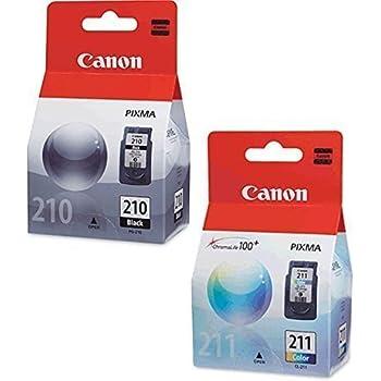 Canon PG-210 Black, CL-211 Color Ink Cartridge Set for PIXMA MP240 MP250 MP270 MX320 MX330 MX340 IP2700 IP2702 Printers OEM