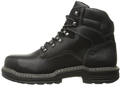 Wolverine Men's Raider 6 Inch Contour Welt Steel Toe EH Work Boot, Black, 12 M US