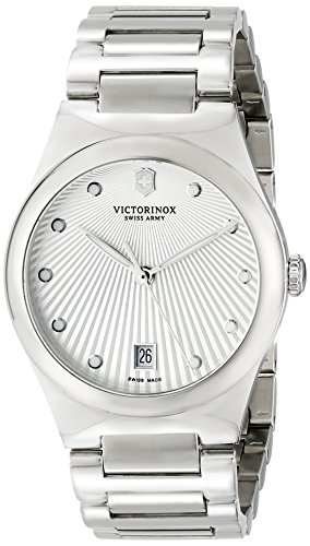 Victorinox Women's 241630 Victoria Analog Display Swiss Quartz Silver Watch