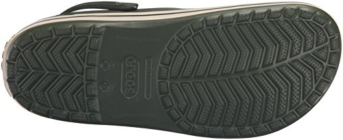 Crocs Clogs Adult Unisex Forest Green Stucco Crocband wFwgv0