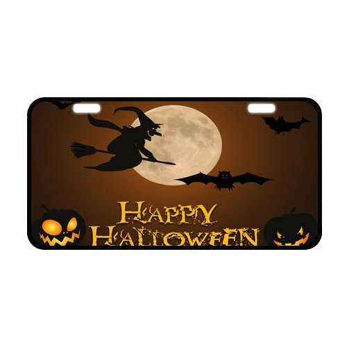 Hot Sale Discount Halloween Pumpkin Bats Ghosts Moon Strong And Durable Aluminum Car License Plate 11.8
