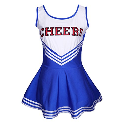 Colorful House Women's Musical Cheerleader Costume Uniform Fancy Dress Blue M US 6-10