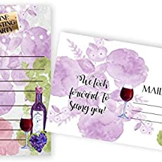 amazon com wine tasting party invitations 20 count 4x6 inch