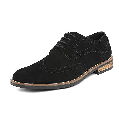 - Bruno Marc Men's URBAN-03 Black Suede Leather Lace Up Oxfords Shoes - 10.5 M US