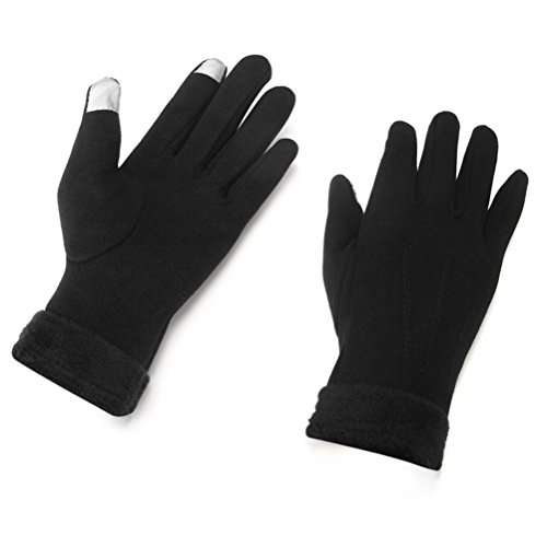 Christmas Aotu.S Women's Thick Fleeced Touch Screen Full Finger Anti-slip Winter Outdoor Snow Ski Protect Windproof Warm Glove