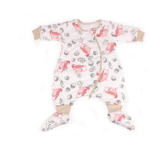 (Baby Cotton Sleep Bag with Feets Infant Sleepsack Thicken Wearable Blanket with Legs(style4 S(19.7-27.5in)))