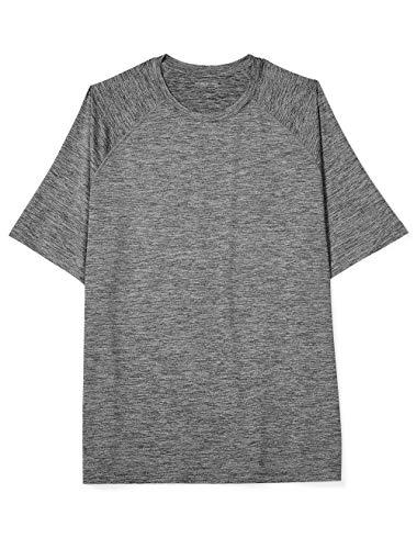 - Amazon Essentials Men's Tech Stretch Short-Sleeve T-Shirt, Dk Gray Spacedye, 3X