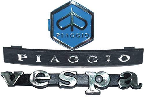 RS Vintage Parts RSV-B019E2NRLS-01523 Motorcycle Parts Vespa PX / LML T5 Vespa Legsheild & Horn Cast Badge/Logo Emblem Kit by RS Vintage Parts (Image #1)