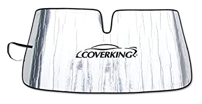 Coverking Custom Sunshade for Select Lexus SC430 Models - Reflective Mylar Foam (Silver)