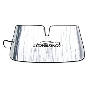 Coverking Custom Sunshade for Select Ford Ranger Models - Reflective Mylar Foam (Silver)