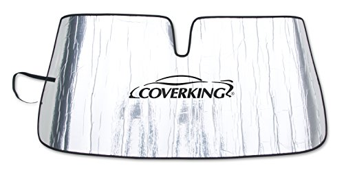 Coverking Custom Sunshade for Select Nissan 300ZX Models - Reflective Mylar Foam (Silver)