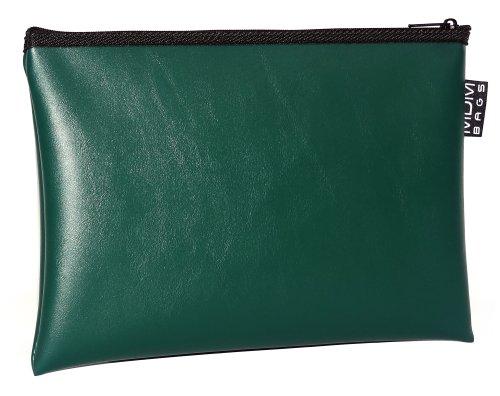 MDM Security Bank Deposit / Utility Zipper, Coin Bag/ Forest Green Money Bag.