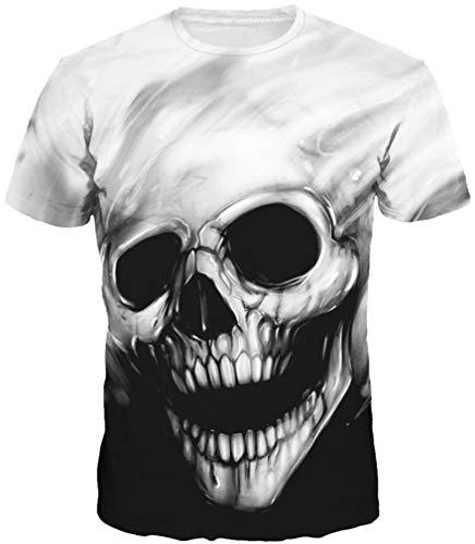 8d4f4f95 Imbry Men's Sports 3D Printed Round Neck Short Sleeve T-Shirt (XXXL, Gray