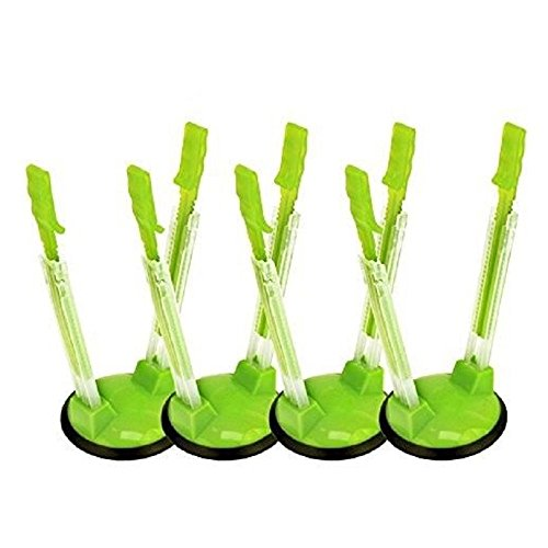 (YUFF Baggy Sandwich Racks Holder,Food Storage Bags Clip-Ideal Plastic Kitchen Gadget, No Hassle Cooking Solutions(4 Pack), 4pcs, Green)