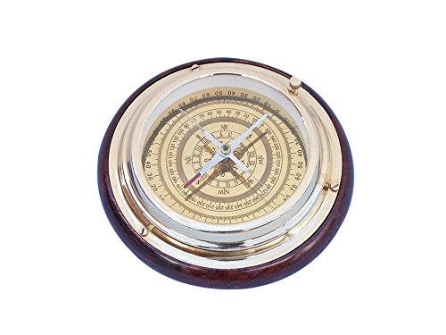 "Brass Directional Desktop Compass 6"" - Brass Decorative Compass - Nautical Compass - Unique Nautical Gift - Boat Compass - Nautical Gift - Brass Compass - Gift Compass"