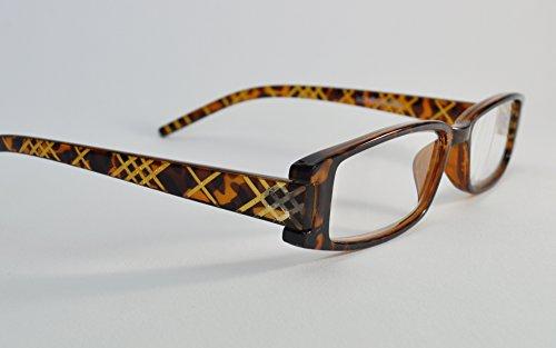 d1e7d86c85f London Fog Designer Reading Glasses for Men   Women 2 PK Readers- 1.50  Strength (Tortoise  Purple). 2.50-Tortoise Purple Over Lilac