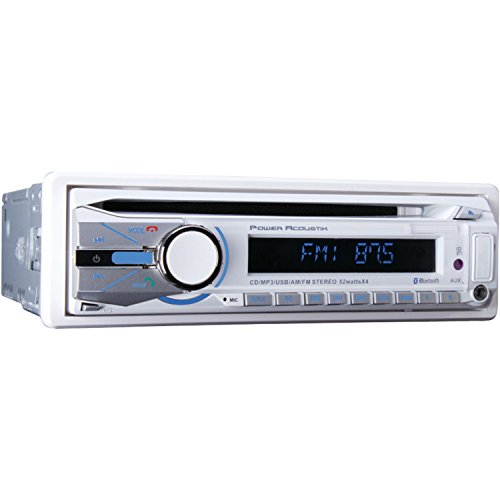 Power Acoustik Mcd-41b Single-din In-dash Marine Cd/mp3 Receiver With Usb & Bluetooth (MCD-41B) by Power Acoustik