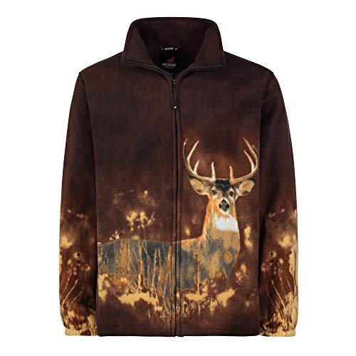 - TrailCrest Men's Women's Sweater Jacket Full Zip Fleece Deer Wildlife Sweatshirt Wildkind