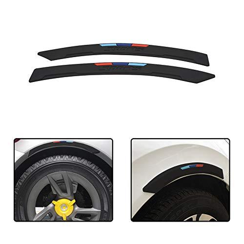 idain Car Wheel Fender Eyebrow Edge Trim Protector Strips Side Bumper Protection Guard Anti-Scratch Corner Pad Fit Most Car,Black
