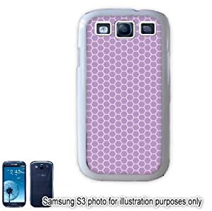 Purple Lavender Honeycomb Pattern Samsung Galaxy S3 i9300 Case Cover Skin White