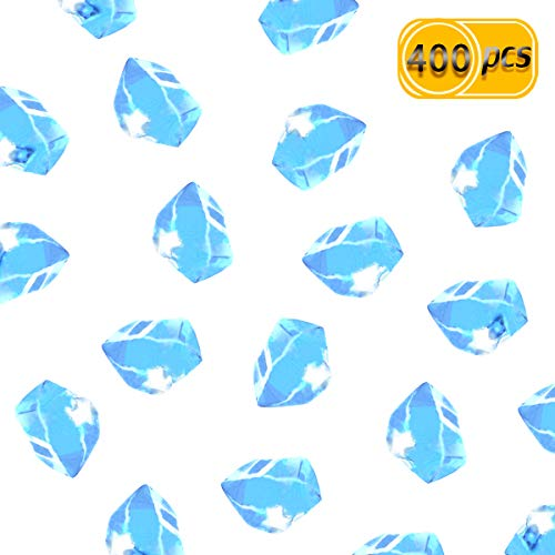 UPlama 400PCS Fake Crushed Ice Rocks,Acrylic Diamond Crystals Ice Rocks Fake Diamonds Plastic Clear Ice Cubes Diamond Table Scatters Acrylic Gems For Vase Fillers Home Decoration Wedding -