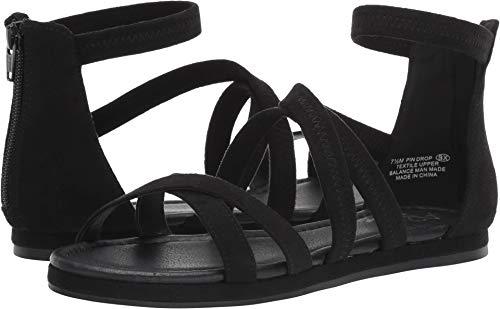 (Aerosoles A2 Women's PIN Drop Flat Sandal Black Fabric 8.5 M US)
