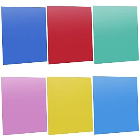 "Neewer 7""x8""/18 x 20 cm Transparent Color Correction Lighting Gel Filter Set Pack of 6 Gel Sheet for Photo Studio Strobe Flash Light (Red,Blue,Green,Cyan,Yellow,&Magenta)"