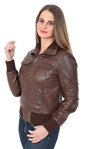 Woman A1 Sleeves Teddy Jacket Goods Long Brown Fashion qq8Hf