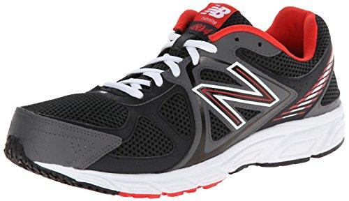 New Balance Men's M480V4 Running Shoe, Black/Red, 10.5 D US
