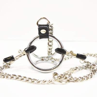 Metal Pleasure Play Large Weighted Nipple Clamp (Silver)