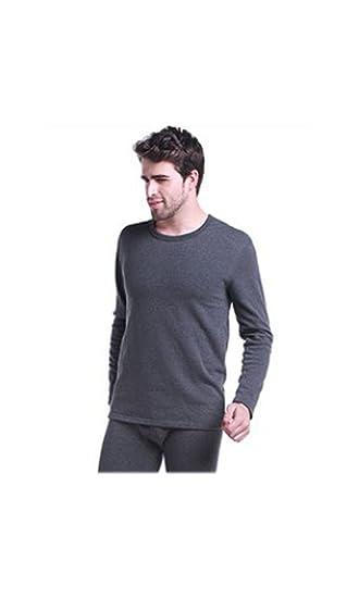 e63e385d0de21f Herren 100% besonders reiner Baumwolle schweres Gewicht (240 g) weich  Langarm tailliertes T-Shirt-Weste oben (thermisch) hohe Qualität (ref   1290)  ...