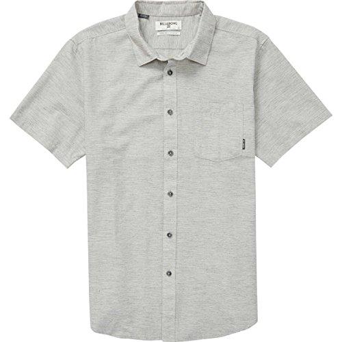 Billabong Men's All Day Helix Short Sleeve Shirt, Light Grey, L by Billabong