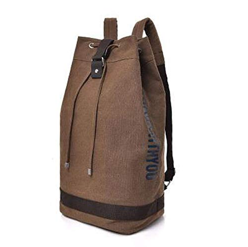 Large Capacity Man Travel Bag Mountaineering Backpack,Brown,Small 24x45x23 cm ()