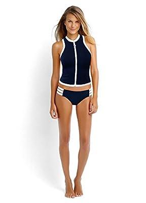 Superbaby Women Rash Tankini Vest Top Multi-Strap Hipster Bikini Swimsuit